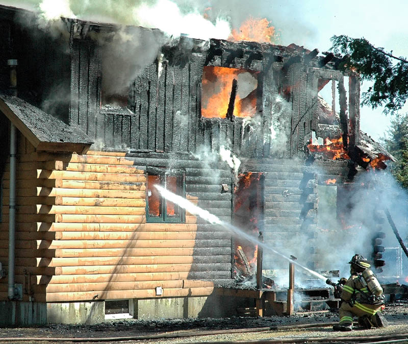 DESTROYED: A fire destroyed a home Friday afternoon on Palmer Road in Skowhegan.