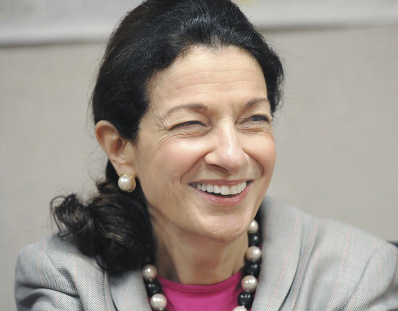 BACK IN MAINE: U.S. Sen. Olympia Snowe met with MaineToday Media's editorial board in Portland on Friday.