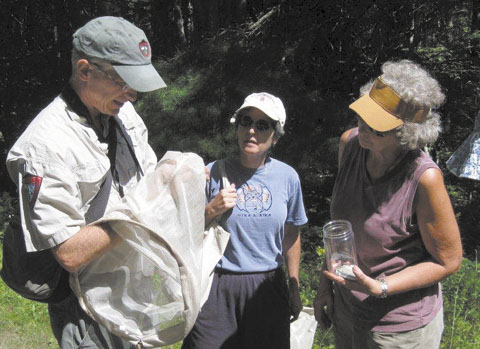 Phillip deMaynadier, wildlife biologist for the Maine Department of Inland Fisheries and Wildlife, instructs participants on how to participate in the Maine Butterfly Survey recently at the Hidden Valley Nature Center in Jefferson.