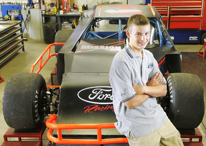 HE'S GOT A FAST CAR: Reid Lanpher, 13, of Manchester has won three of five races on the Maine Mod Series this summer.
