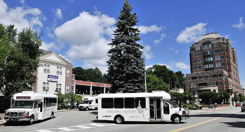 HUB: Kennebec Explorer bus routes converge at Haymarket Square in downtown Augusta.