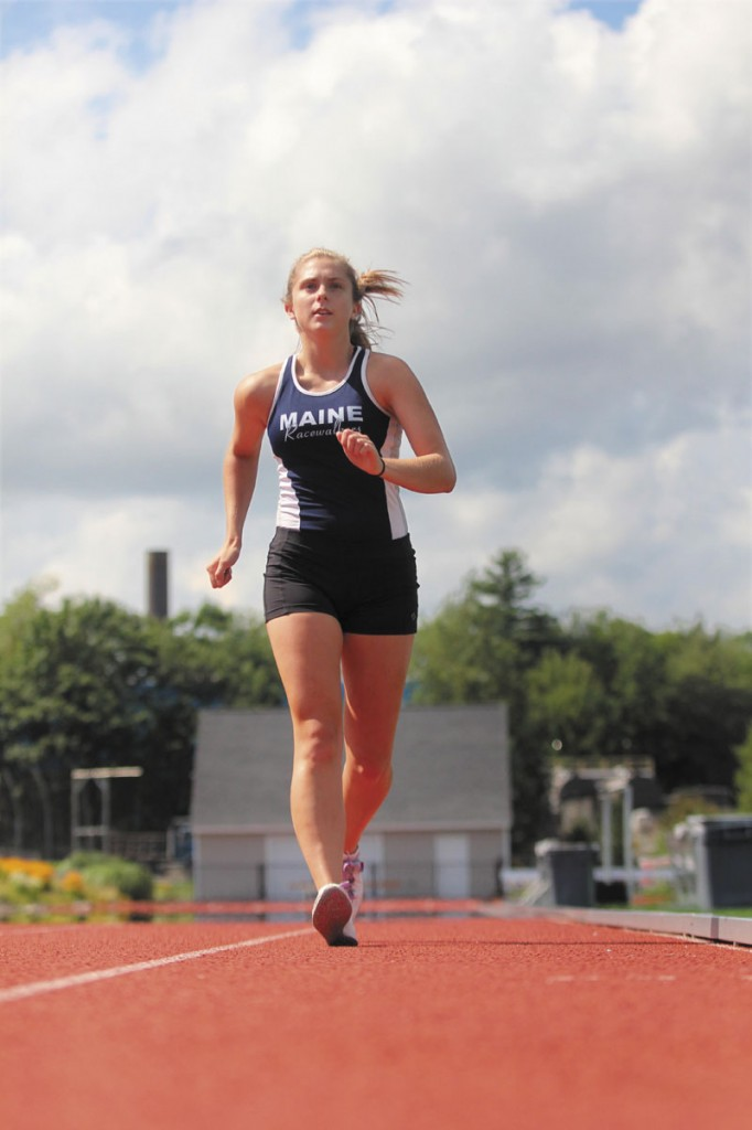 REPRESENTING HER COUNTRY: Courtney Williams, 17, of Vassalboro will compete in the 23rd annual USA vs. Canada Junior Race Walk Match on Sunday in East Boston, Mass.