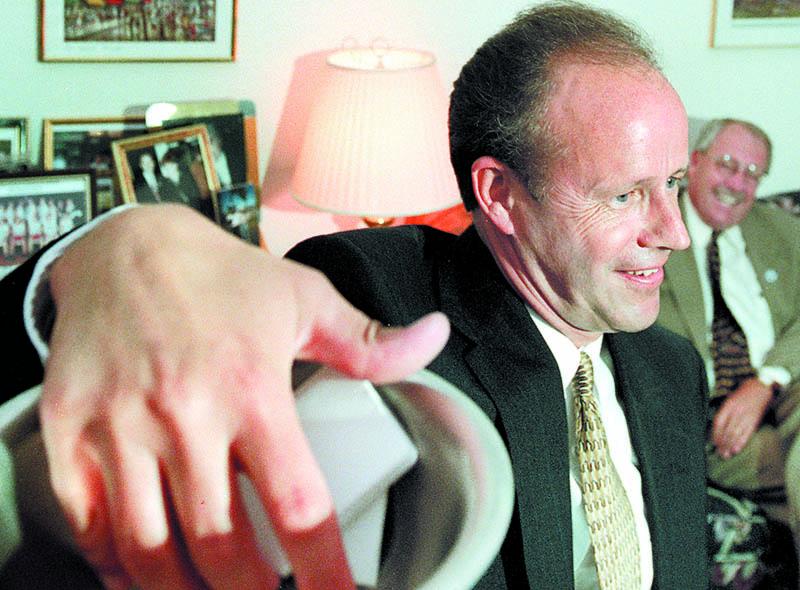 DOING HIS JOB: Dan Gwadosky, a Fairfield native whose long career in public service included two years as speaker of the Maine House and eight years as secretary of state, died Wednesday after a battle with pancreatic cancer. He was 57.