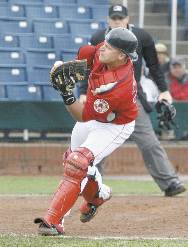 MOVING PARTS: The Boston Red Sox traded Tim Federowicz, shown here in June with the Portland Sea Dogs, and two other prospects in a deal that landed them, among others, Eric Bedard. Baseball