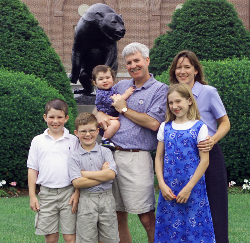 Tyler Walsh, lower left, appreciates the respect that was earned by his father, Shawn, who died in 2001. The rest of the family includes Travis Walsh, next to Tyler; Alejandra, front right; Shawn Walsh holds his son, Sean, and is next to his wife, Lynne.
