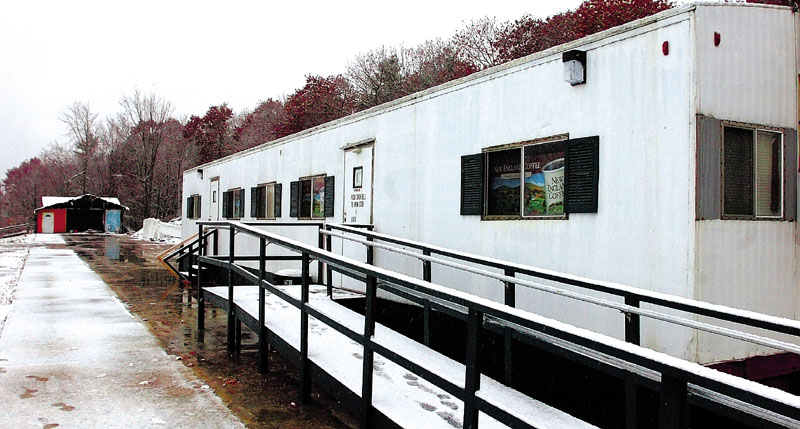 SOMETHING ELSE: A portable building that once housed the Grand View Coffee Shop will be torn down and a self-storage business put up in its place, according to the man buying the Vassalboro property.
