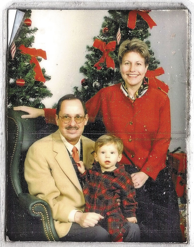 Russell and Eleanor Handler in a family Christmas photo when David was 15 months old. david_50