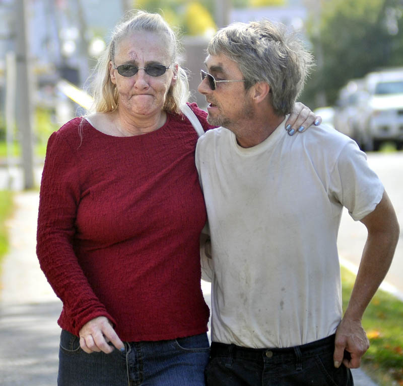 """SEEKING CLOSURE: Maxine Cross, left, who said she is the biological sister of murder victim Rita St. Peter, alleged Friday that Jay Stephen Mercier — accused of killing St. Peter — was the father of St. Peter's child. She has backed away from her original comments since then. """"I wasn't sure myself,"""" she said Monday."""