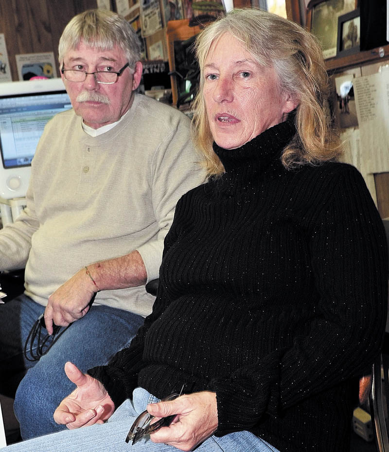 Doug and Mary Lou Harlow talk on Wednesday about the fire that caused extensive damage to their home in Athens Tuesday evening. The Harlows were not injured but a barn and portion of the home were destroyed.