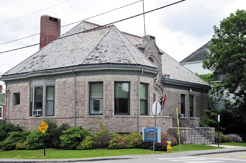 NEW ROOFING PROBLEM: A new slate roof is in the works for the C.M. Bailey Public Library in Winthrop. The roof is leaking and some tiles have come off the 1916 building, according to Richard Fortin, library director. A grant and the library trustees' endowment fund will pay for the estimated $150,000 job.