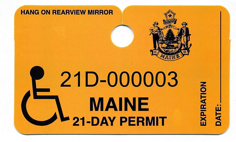 NEW PLACARD: A new temporary handicap placard that is displayed in your car indicating that you have experienced a recent medical procedure.