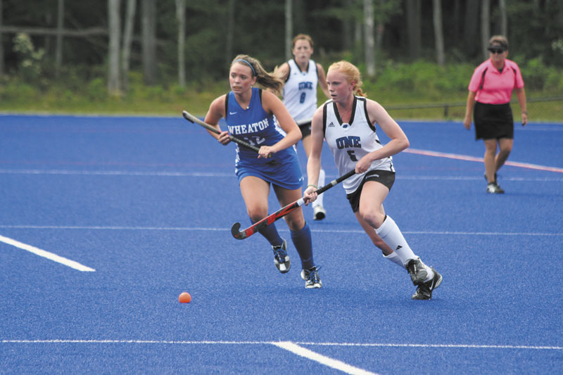 IMPACT PLAYER: Mt. Blue High School graduate Michelle Oswald is a key member of the University of New England field hockey team, which is 13-1-0 this season.