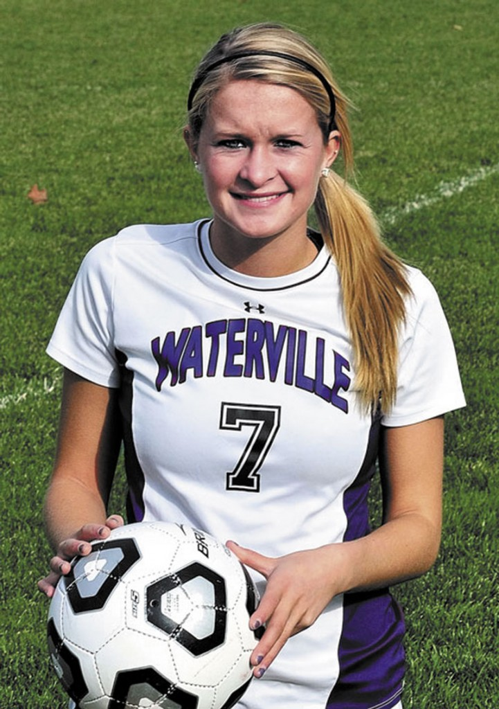 SMOOTH TRANSITION: Jordan Pellerin, who scored 171 goals during her high school career at Waterville, has played in all 11 of Maine's games this season, starting two.