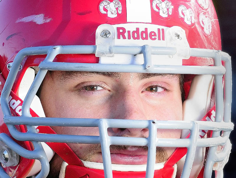 GETTING IT DONE: Cony High School linebacker Phil Obert is among the league leaders in tackles in the Pine Tree Conference Class A division.