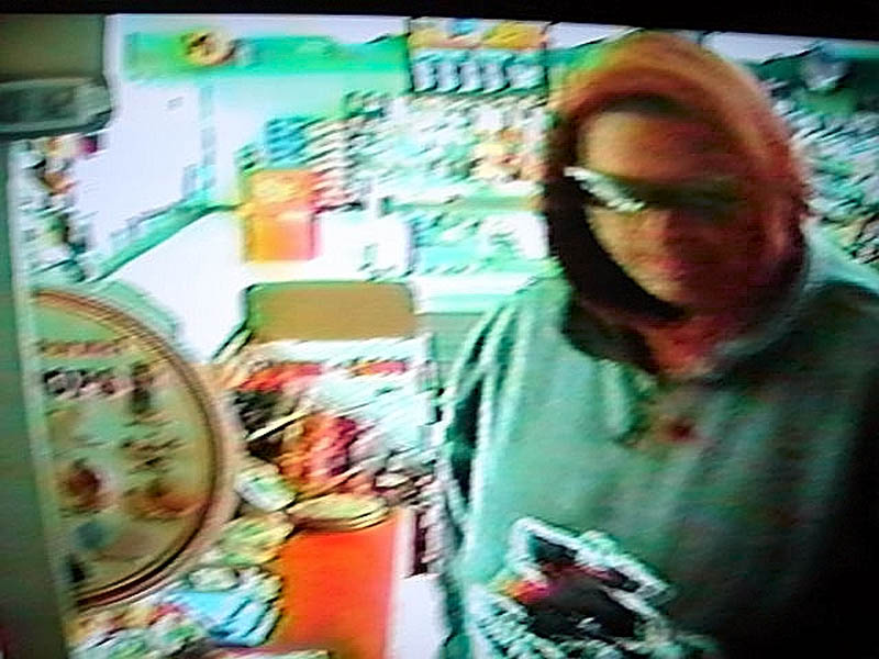 SUSPECT: Police are seeking this man, shown in surveillance video footage, who robbed the Big Apple convenience store in Fairfield Center on Thursday.