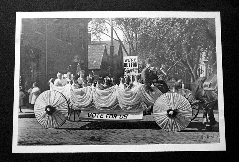 FLOATING AROUND: This photo, dated 1911, shows a pro-Prohibition parade float.
