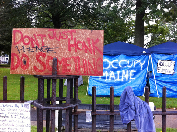 """Call to action captures spirit of """"Occupy"""" protest in Portland."""