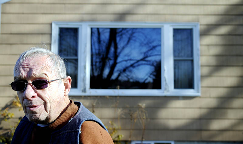 Kenneth Bonsant, 78, is losing his home on Old Belgrade Road in Augusta to make way for road improvements near a new regional hospital. Bonsant said he built the home 48 years ago.