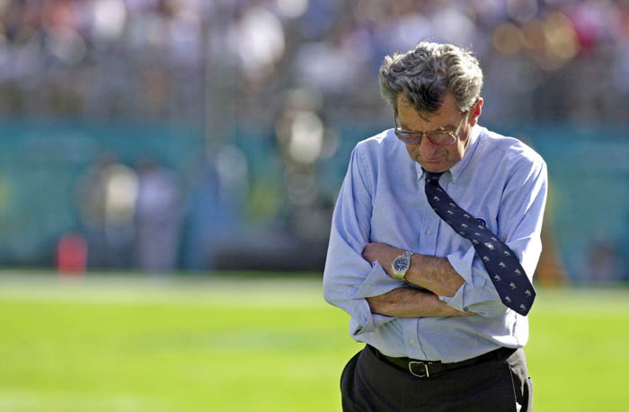 Penn State's Joe Paterno: Chastised by police for not doing enough to try to stop the suspected abuse.