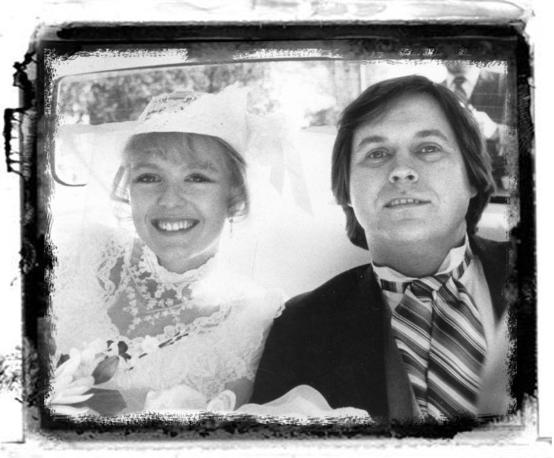 HAPPIER DAYS: Leeanne and Brian Kowalczyk are shown on their wedding day in October 1983. His murder in 1986 at the Winthrop home pictured above remains unsolved.