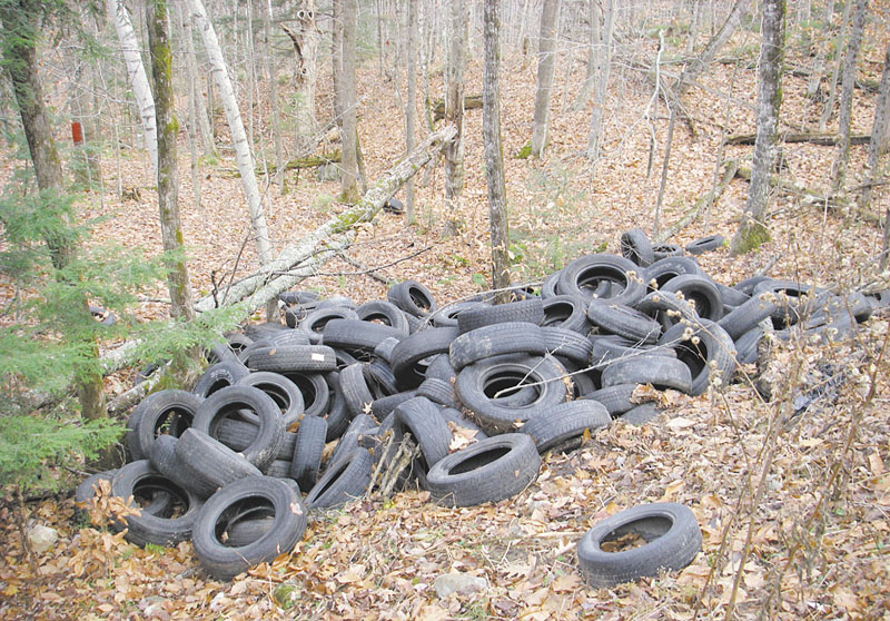 ILLEGAL DISPOSAL: Mount Vernon property owners will foot the bill for 200 tires illegally dumped down a hillside. Each tire will cost the town $2 for disposal, bringing the total to more than $400.