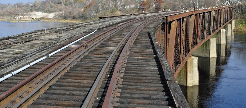 THINKING BIG: The Eastside Planning Committee report envisions the east and west sides of Augusta connected by a pedestrian path crossing the Kennebec River on the old train trestle. That report goes to the City Council at 7 tonight.