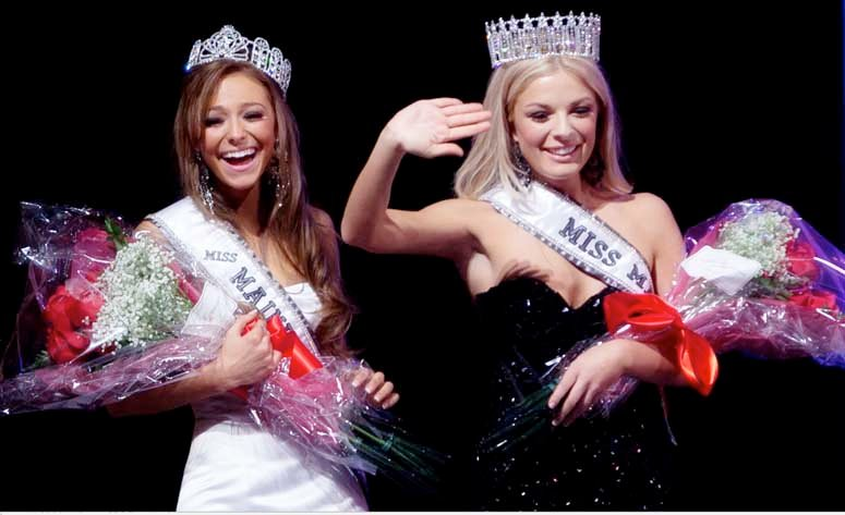 Miss Teen Maine Molly Fitzpatrick, left, and Miss Maine USA Rani Williamson.