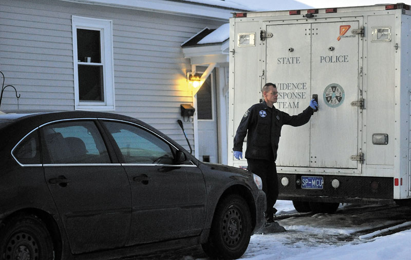 Investigators with Maine State Police were back at the Waterville home of 20-month-old Ayla Reynolds on Monday.
