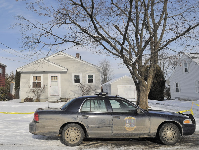MISSING: A Waterville police department cruiser sits outside Ayla Reynolds' Waterville home as the search for the 20-month-old toddler continued on Tuesday.