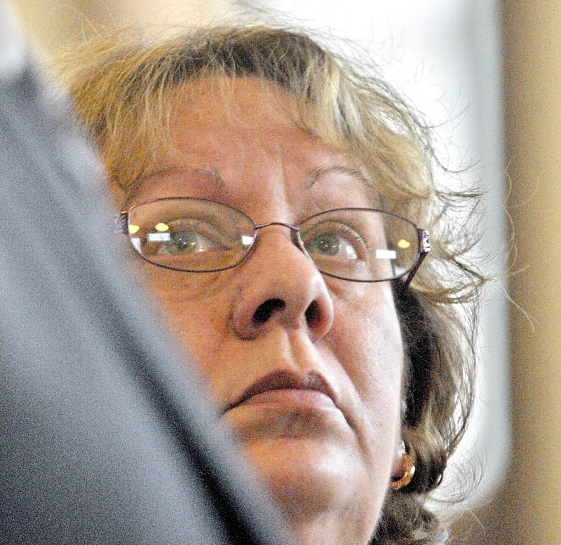 Bettysue Higgins, 54, of Gardiner, pleaded guilty to embezzlement Wednesday in Kennebec County Superior Court in Augusta. Higgins, a former employee of the Maine Trial Lawyers Association, embezzled $166,000 from the organization.