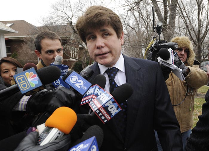 Former Illinois Governor Rod Blagojevich heads to federal court for his sentencing hearing in Chicago today.
