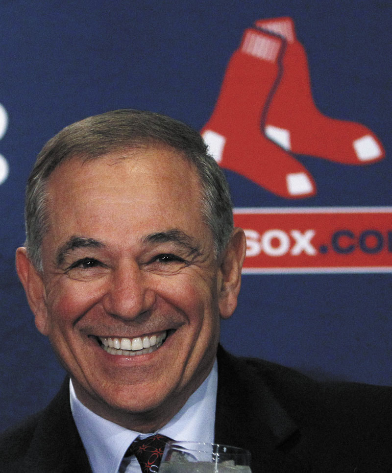 Boston Red Sox manager Bobby Valentine smiles during a news conference at Fenway Park in Boston on Thursday.
