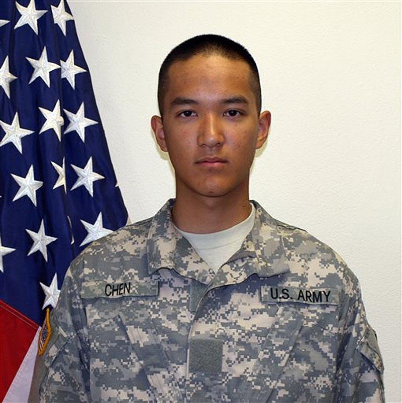 This undated file photo provided by the U.S. Army shows Pvt. Danny Chen,19, who was killed Monday, Oct. 3, 2011 in Kandahar, Afghanistan. (AP Photo/U.S. Army, File)