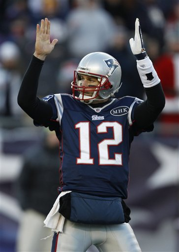New England Patriots quarterback Tom Brady (12) against the Miami Dolphins during the second half of the Patriots win Saturday in Foxborough, Mass.