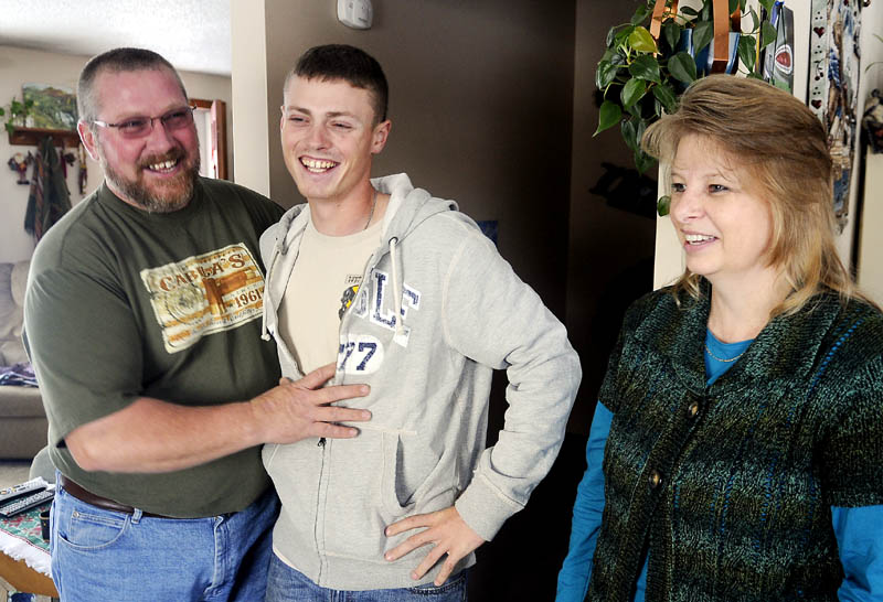 FAMILY: Jeffrey Moore is staying with his father, George, and stepmother, Penny, at their Winthrop home while on leave from the Army. The generator mechanic recently returned from a tour in Iraq. During the break, he also is spending time with other members of his family, including his mother, Darlene Moore, of Wayne.