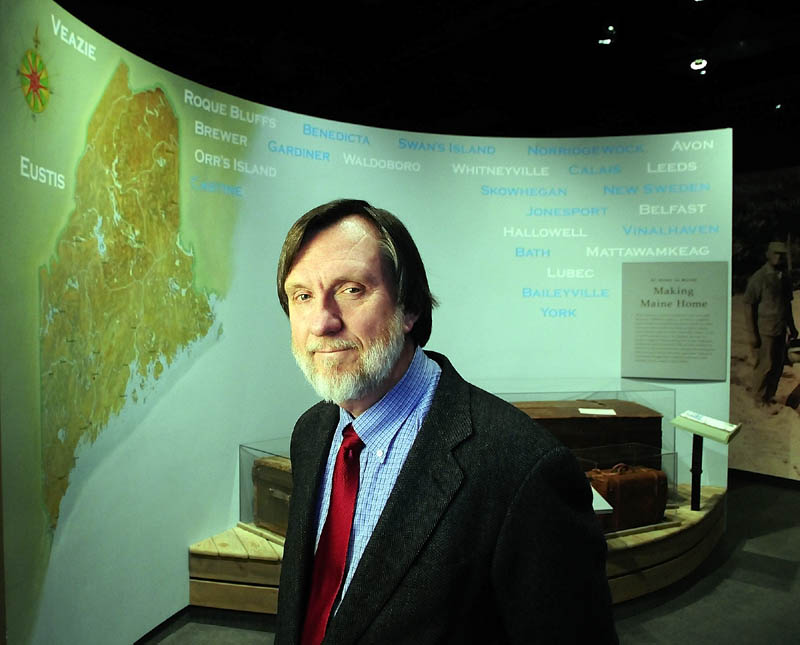 RETIRING: Maine State Museum Director Joseph R. Phillips stands in the At Home In Maine exhibit, which was the largest that opened during his time working in Augusta. Phillips announced that he plans to retire next spring.