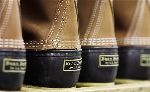 """L.L. Bean boots, seen here in the facility where they are assembled in Brunswick, """"are very practical, but also ... fashionable,"""" one student said."""