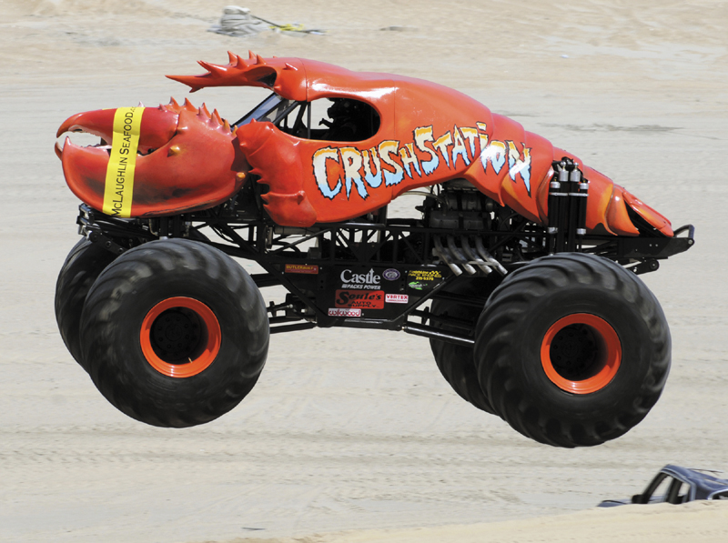 Greg Winchenbach of Jefferson will drive his Maine-made monster truck, the aptly named 11,000-pound Crushstation, Jan. 6-7 at Verizon Wireless Arena in Manchester, N.H. He runs an auto repair business in Jefferson and competes on the Monster Jam circuit across the eastern United States.