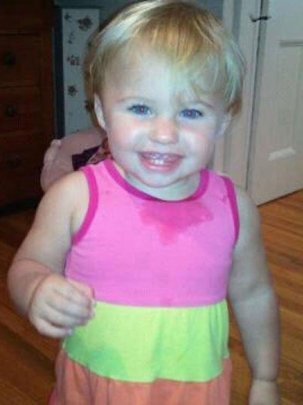 This undated photo obtained from a Facebook page shows missing toddler Alya Reynolds.