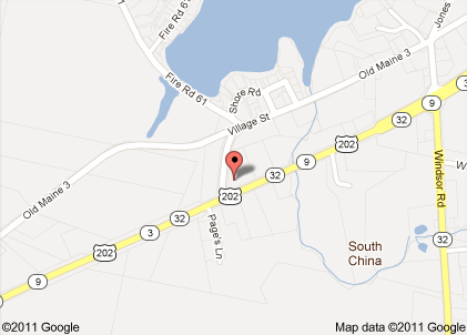 Location of reported bank robbery at Border Trust Co. in South China