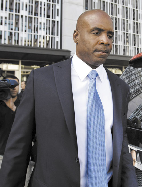 PUNISHMENT COMING UP: Former San Francisco Giant Barry Bonds leaves the federal courthouse in June in San Francisco after a hearing about his perjury trial. Barring an appeal, Bonds is scheduled to be sentenced Friday in San Francisco, bringing the federal government's nearly decade-long investigation of a Northern California-based steroids ring to an anti-climactic end.