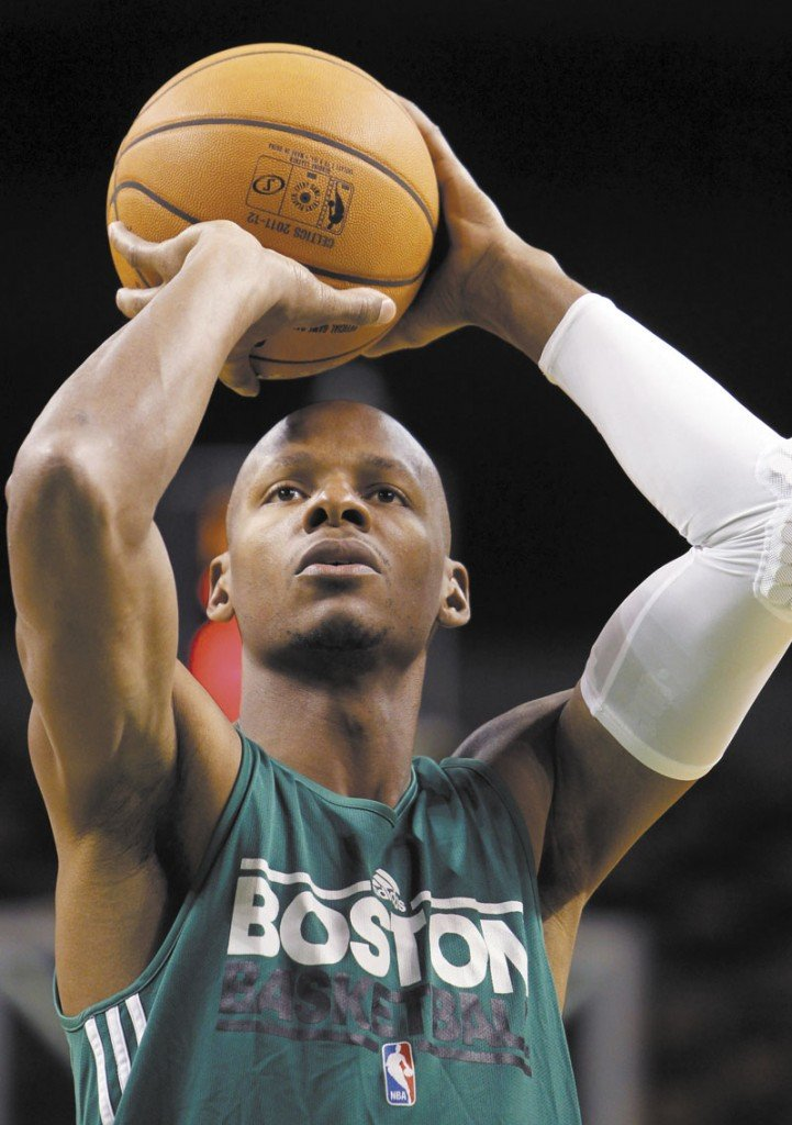 BACK FOR MORE: Ray Allen returns to the Boston Celtics this season along with Kevin Garnett, Paul Pierce and Rajon Rondo as the Celtics make a run at their 18th NBA title.