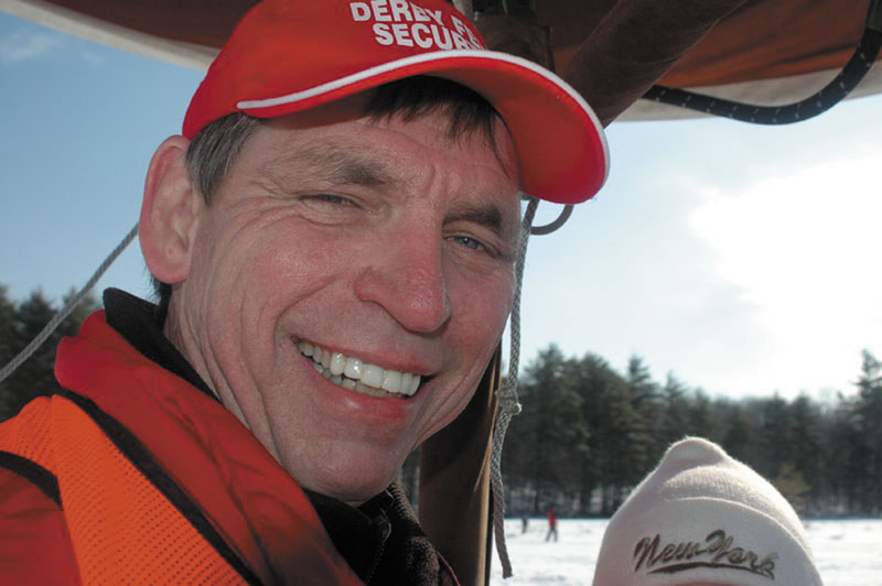A REASON TO SMILE: Tom Noonan started the Sebago Derby in 2001 and turned it into the state's largest ice fishing derby. Now he's trying to spread that success across the state.