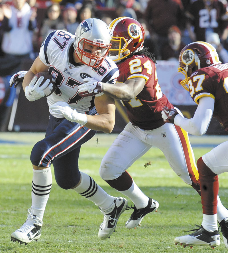POWER HOUSE: Tight end Rob Gronkowski, left, and the New England Patriots will be one of the toughest test of the season for Tim Tebow and the Denver Broncos. Denver has a history of starting slow this season, which could hurt them in the long run against the high-scoring Patriots' offense NFLACTION11;