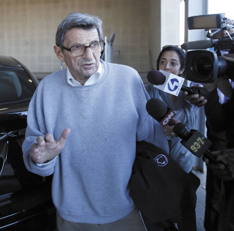 A BAD YEAR: The scandal at Penn State which eventually cost head coach Joe Paterno his job, was one of the many that made 2011 possibly the worst year ever in sports.
