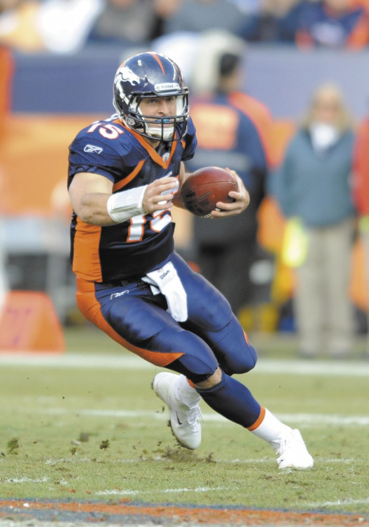 GETTING IT DONE: Tim Tebow has gone 7-1 as a starting quarterback for the Denver Broncos this season.