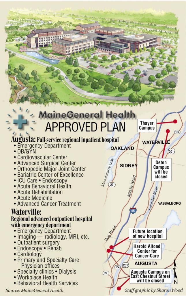 A map shows the approved plan for MaineGeneral Health.