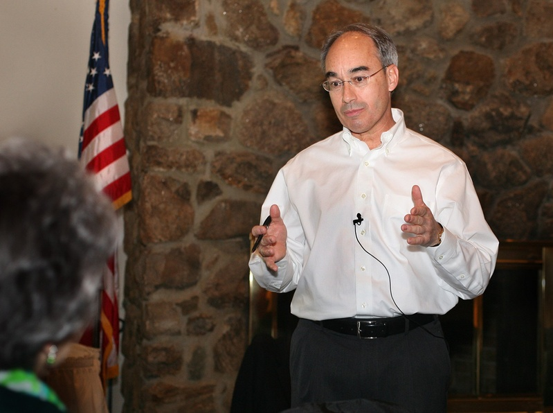 TREASURER: Bruce Poliquin is facing questions from a Democratic lawmaker over Poliquin's business activities. Rep. Mark Dion, D-Portland, has asked the attorney general to determine if Poliquin's operation of the Popham Beach Club violates Maine's Constitution.