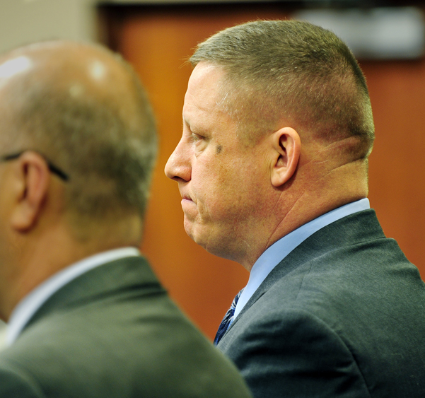 Maine State Police Sgt. Robin Parker pleads guilty to OUI in District Court today.