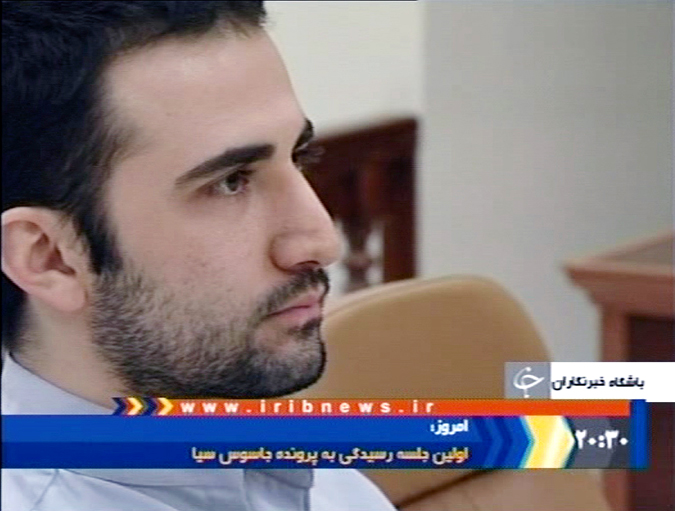 A Dec. 27, 2011, photo of a video frame grab image made from the Iranian broadcaster IRIB TV, shows U.S. citizen Amir Mirzaei Hekmati, accused by Iran of spying for the CIA, in Tehran's revolutionary court, in Iran. An Iranian court has convicted an American man of working for the CIA and sentenced him to death, state radio reported today.